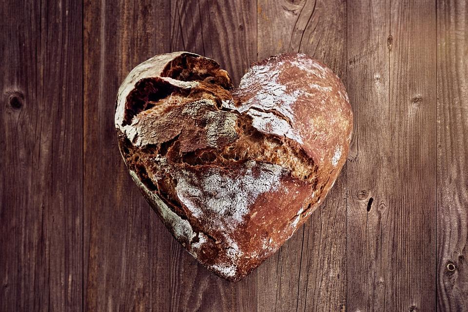 Bread, Love, Heart, Bake, Baker, Bakery, Luck, Eat