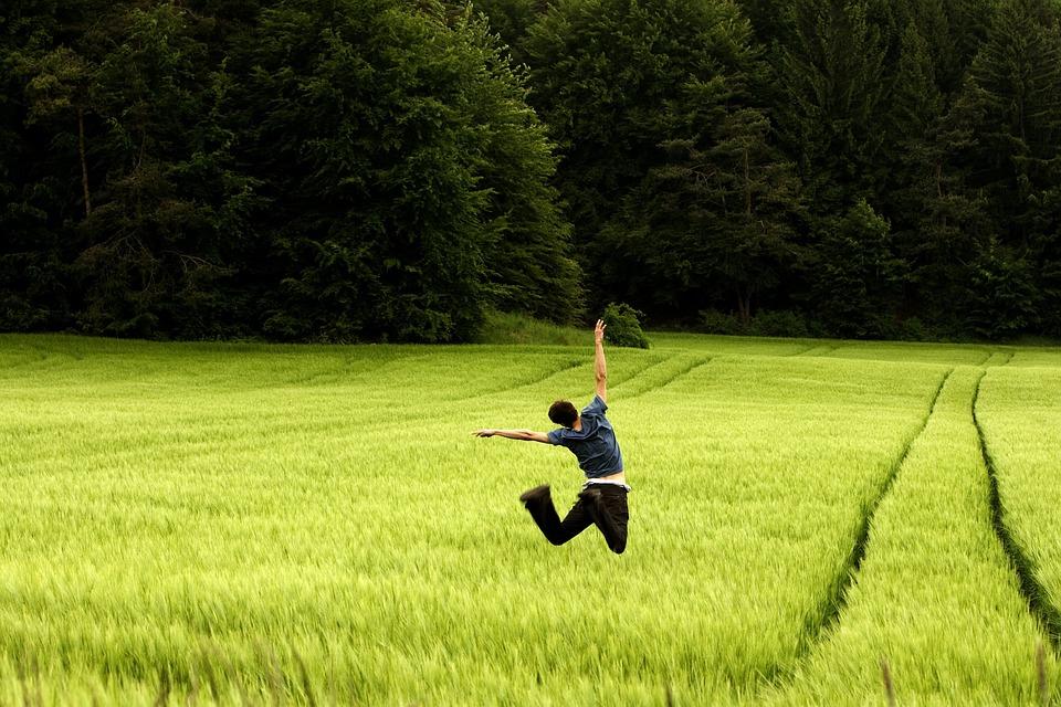 Jump, Luck, Joy, Happy, Joy Of Life, Emotion, Freedom