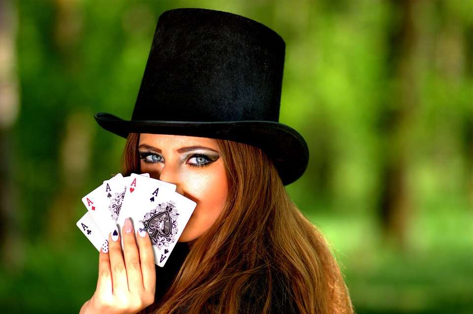 Girl, Topper, Playing Cards, Luck, Poker, Ace