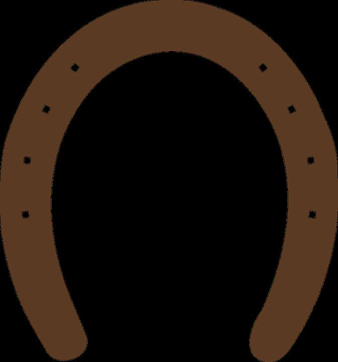 Horseshoe, Horse, Luck, Shape, Silhouette, Brown