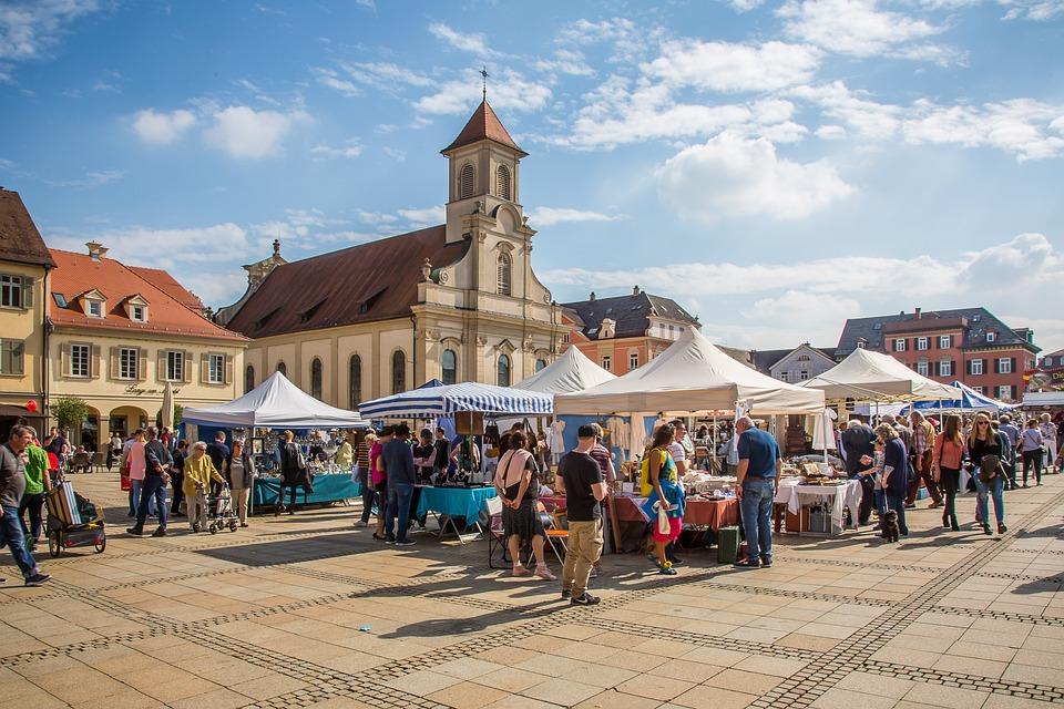 Ludwigsburg Germany, Marketplace, Antique Mile