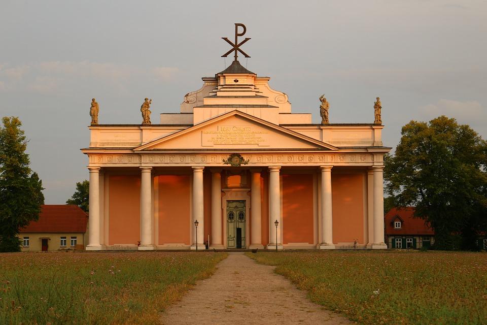 Church, Ludwigslust-parchim, Evening Light, Building