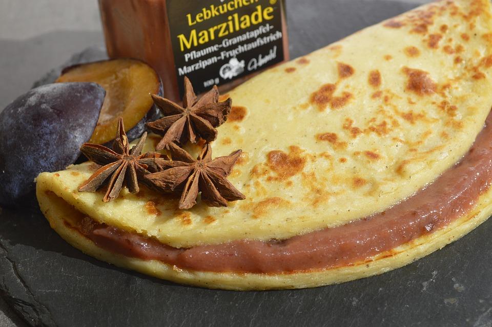 Food, Pancake, Lübecker Marzipan, Marzilade, Meal
