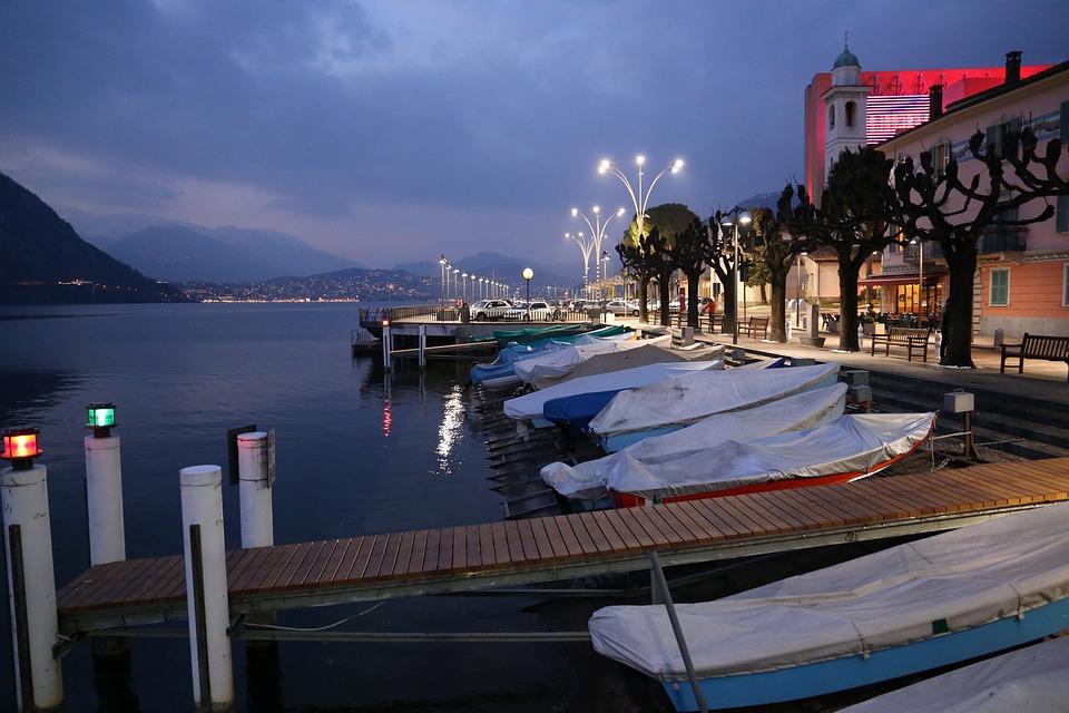 Campione D'italia, Lugano, Switzerland, Water, Lake