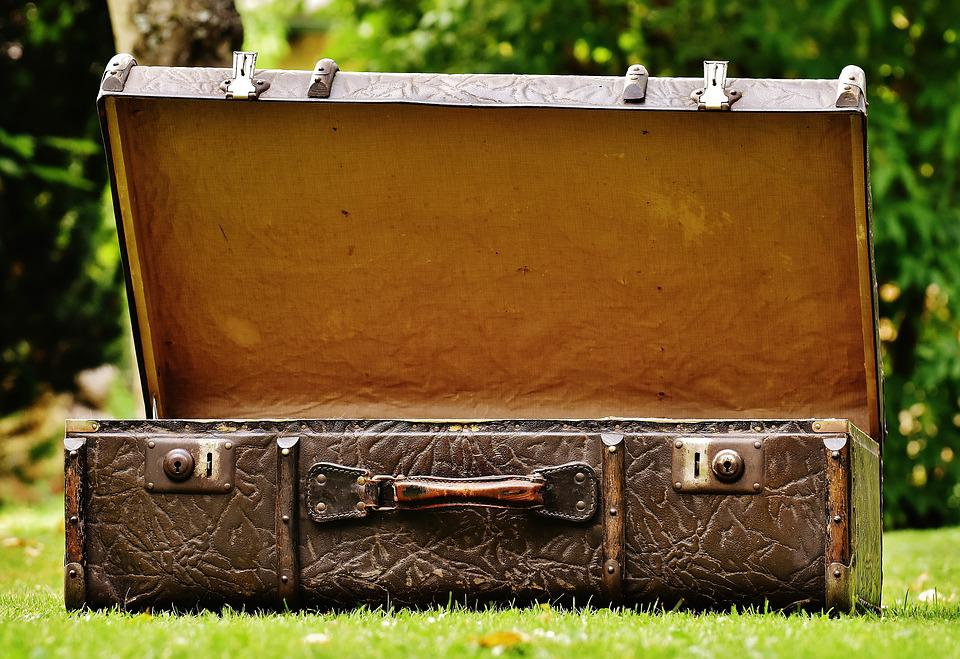 Luggage, Antique, Leather, Old Suitcase, Junk