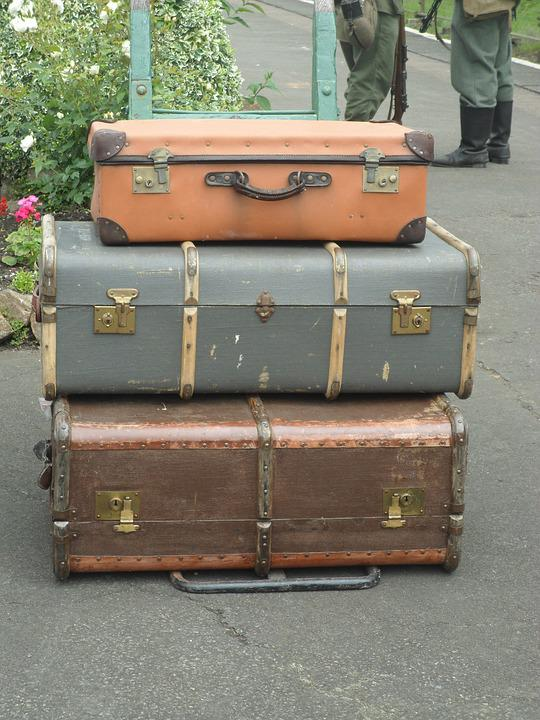 Luggage, War, Vintage, Baggage, Travel