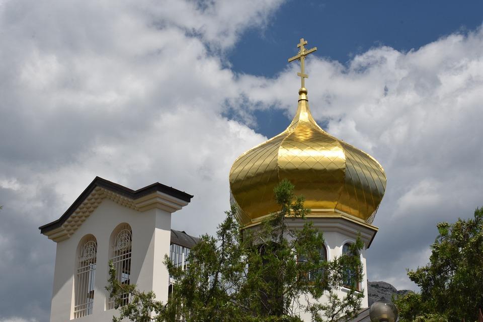 Church, Temple, Holy, Luke, Orthodox, Religion, Sky