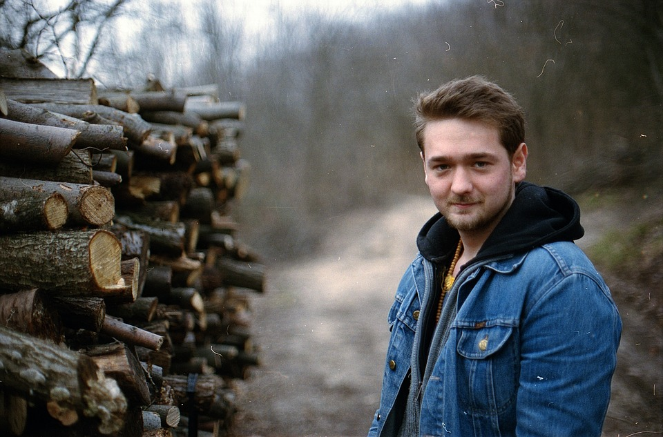 Lumber, Young Man, Male, Man, Wood, Young, Hiking