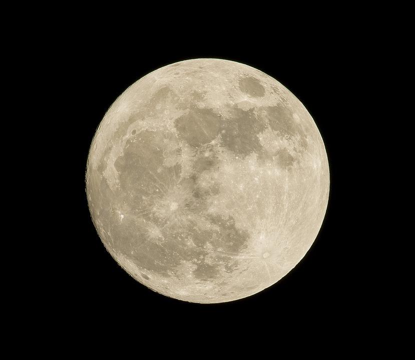 Astronomy, Full Moon, Luna, Moon, Night, Black Moon