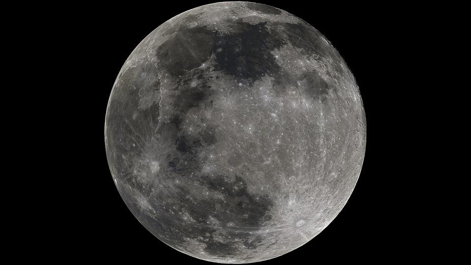 Luna, Moon, Full Moon, Moonlight, Astronomy, Universe