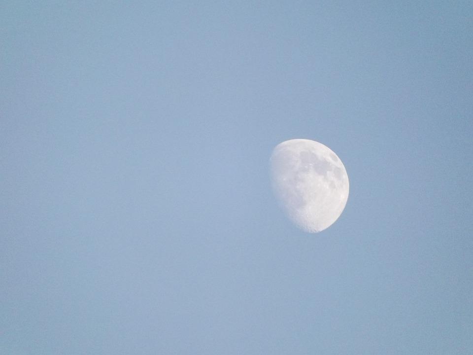 Daylight Moon, Moon, Lunar, Magical, Moonlight