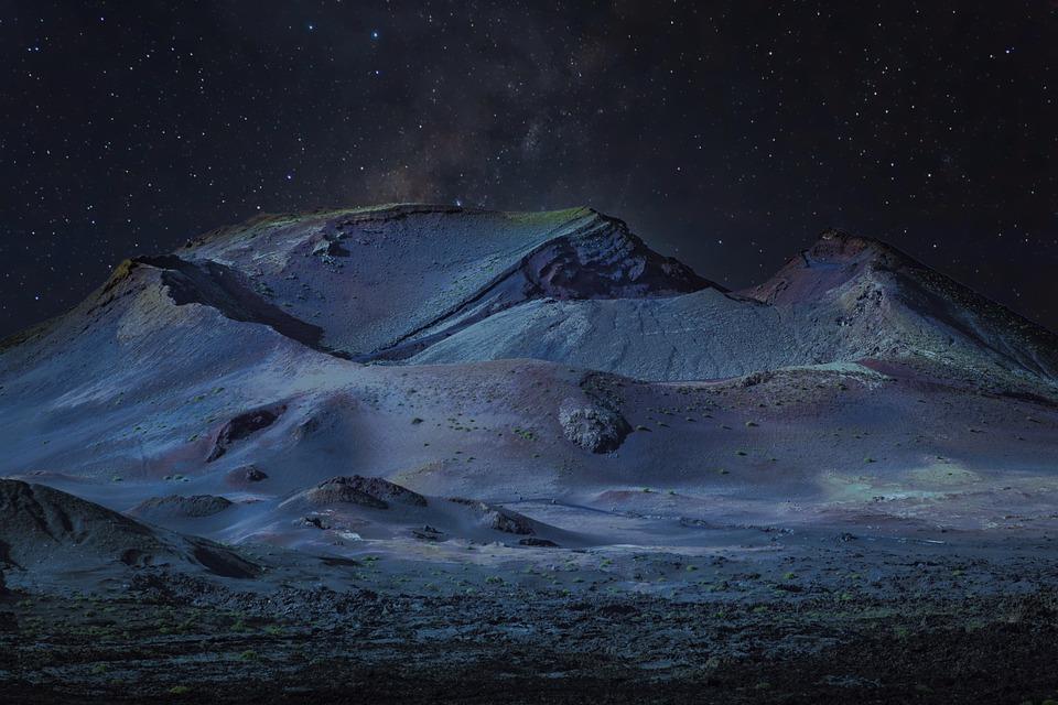 Landscape, Night, Lunar, Sky, Scene, Outdoor