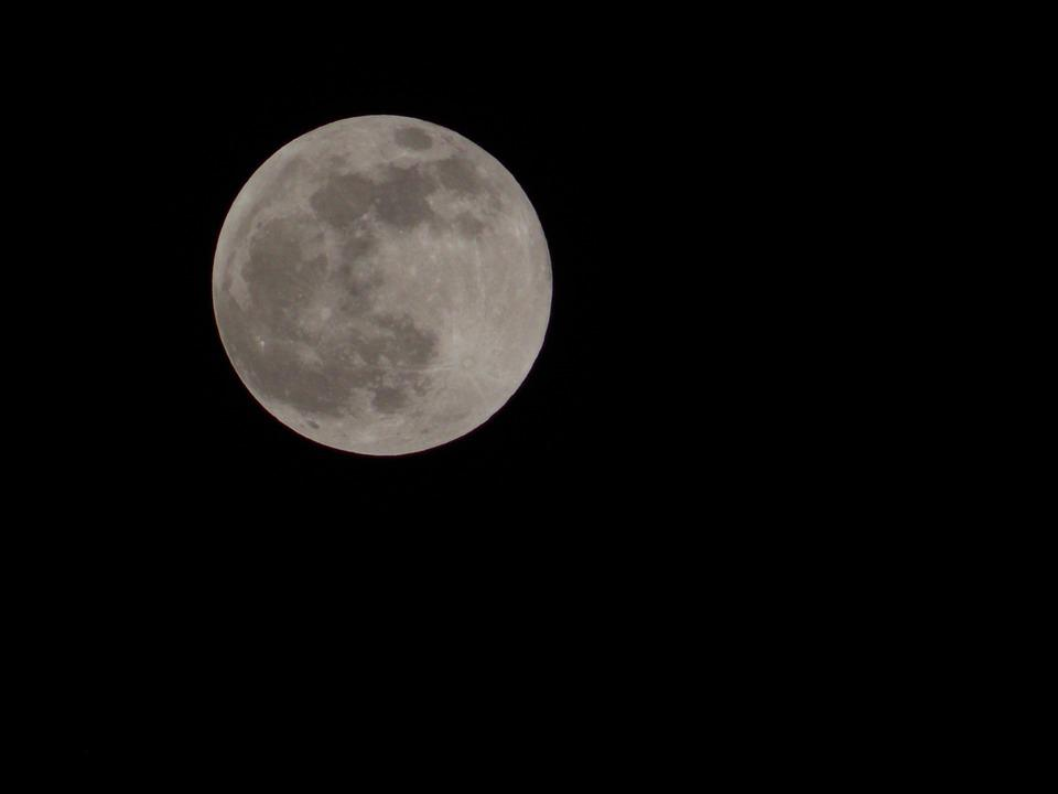 Moon, Night, Lunar Surface, Craters, Moon By Night