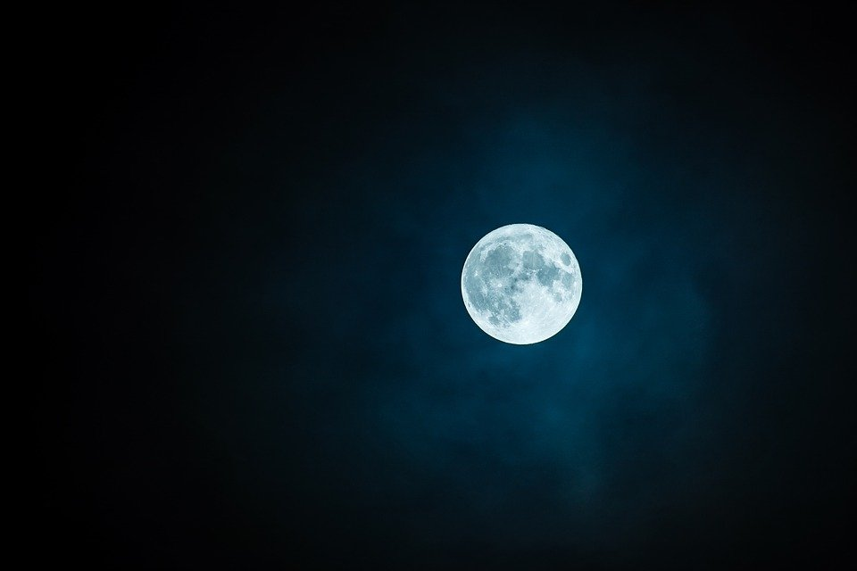 Moon, The Fullness Of, Sky, Mystery, Nature, Lunar
