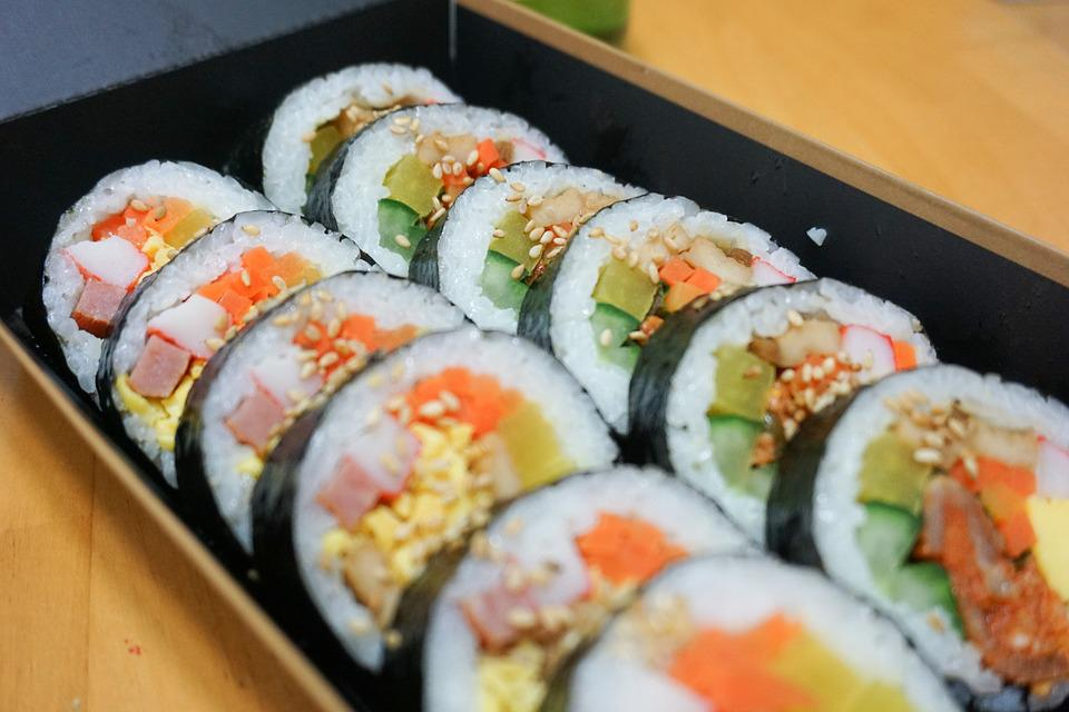 Kim Rice, Vegetables Rolled In, Lunch