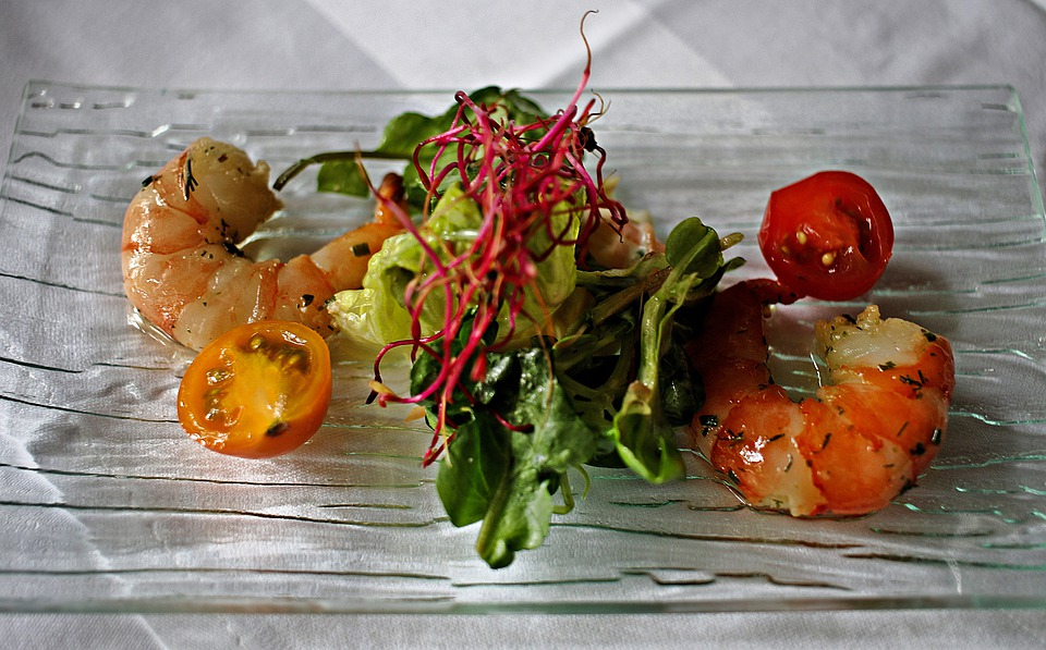 Starter, Shrimp, Seafood, Court, Gourmet, Meal, Lunch
