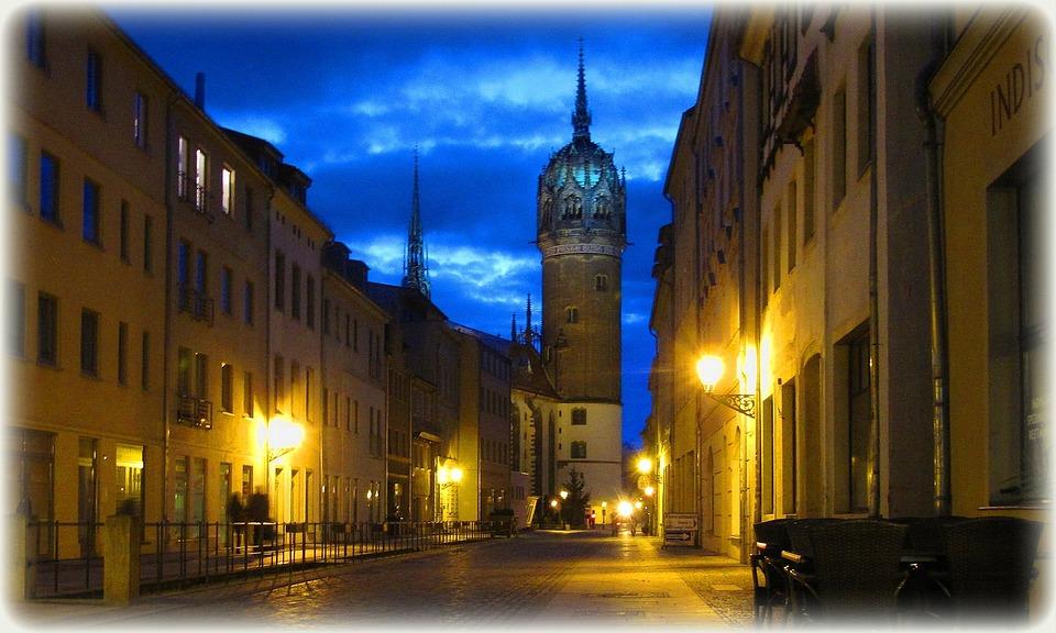 Germany, Wittenberg, Abendstimmung, Luther, Road