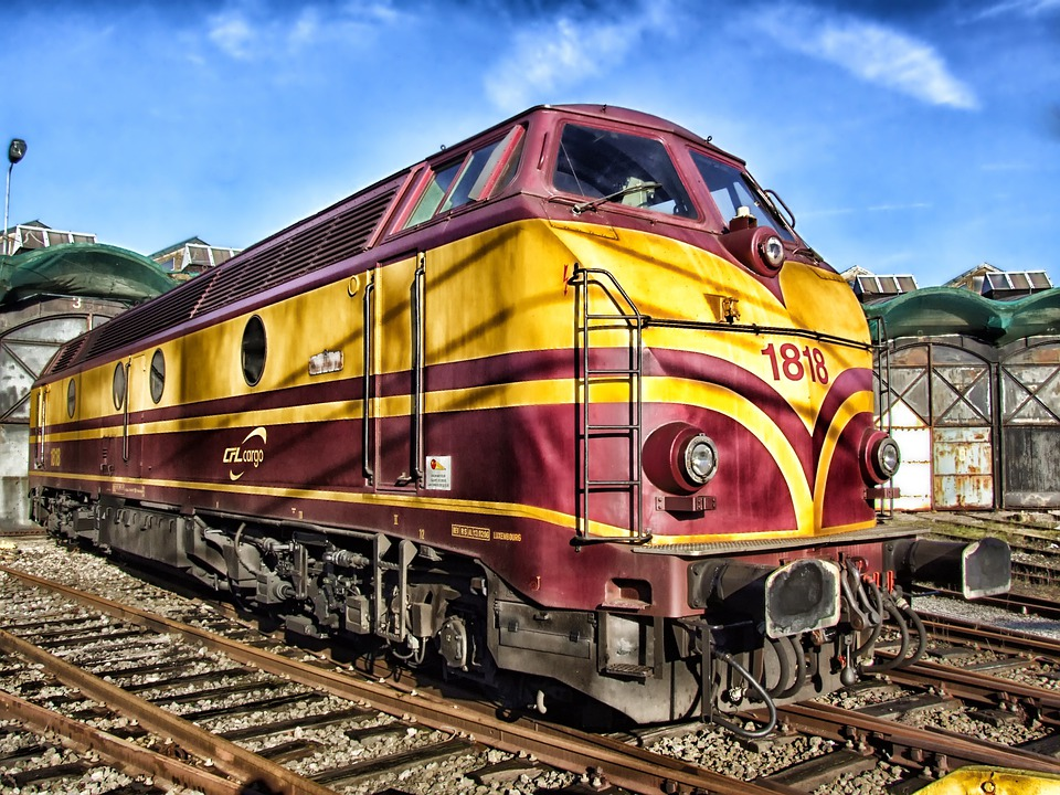 Train, Luxembourg, Locomotive, Railroad, Railway