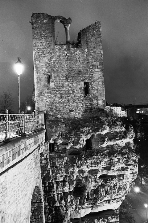 Luxembourg, Night, The Ruins Of The, Turbot, Lamp