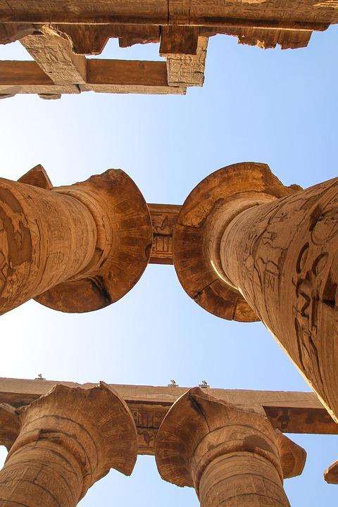 Luxor, Column, Karnak, Columns, Egypt, Ancient