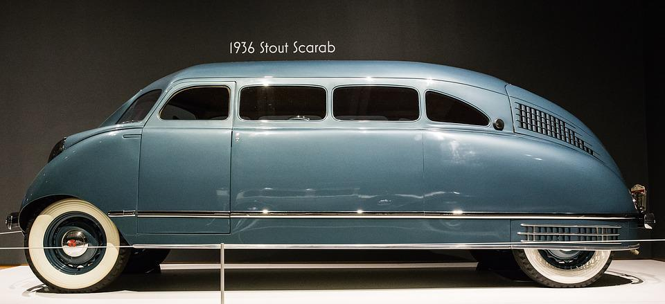 Car, 1936 Stout Scarab, Art Deco, Automobile, Luxury