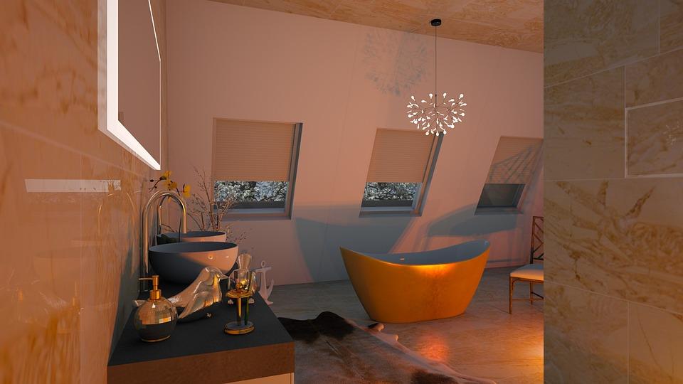 Bathroom, The Interior Of The, Luxury, Design