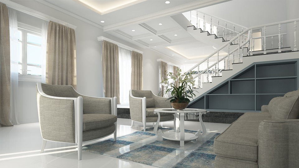 Interior, Neoclassical, Design, Luxury, 3d, White