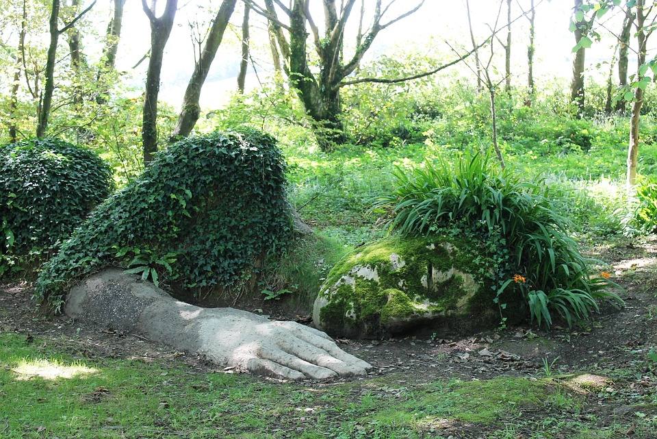 Sculpture, Woman, Lying, Sleep, Green, Beautiful Woman