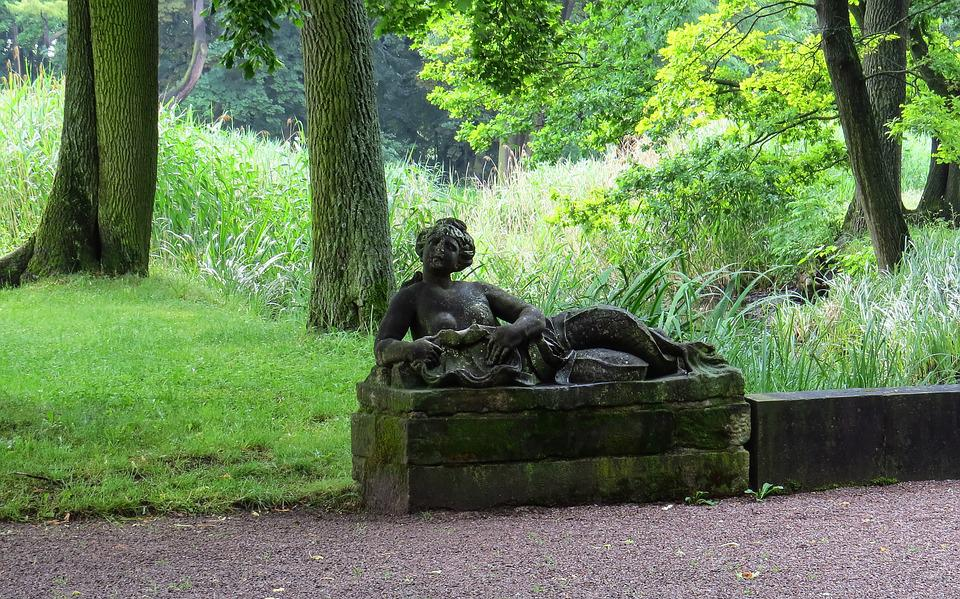 Sculpture, Woman, Stone, Fig, Lying, Park