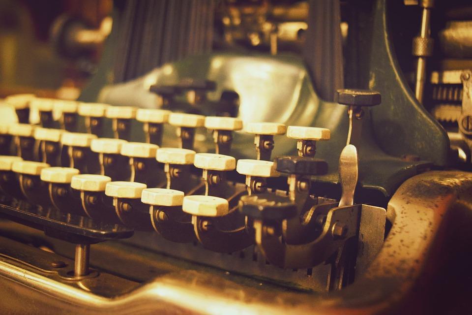 Typewriter, Old, Vintage, Retro, Keyboard, Lyrics