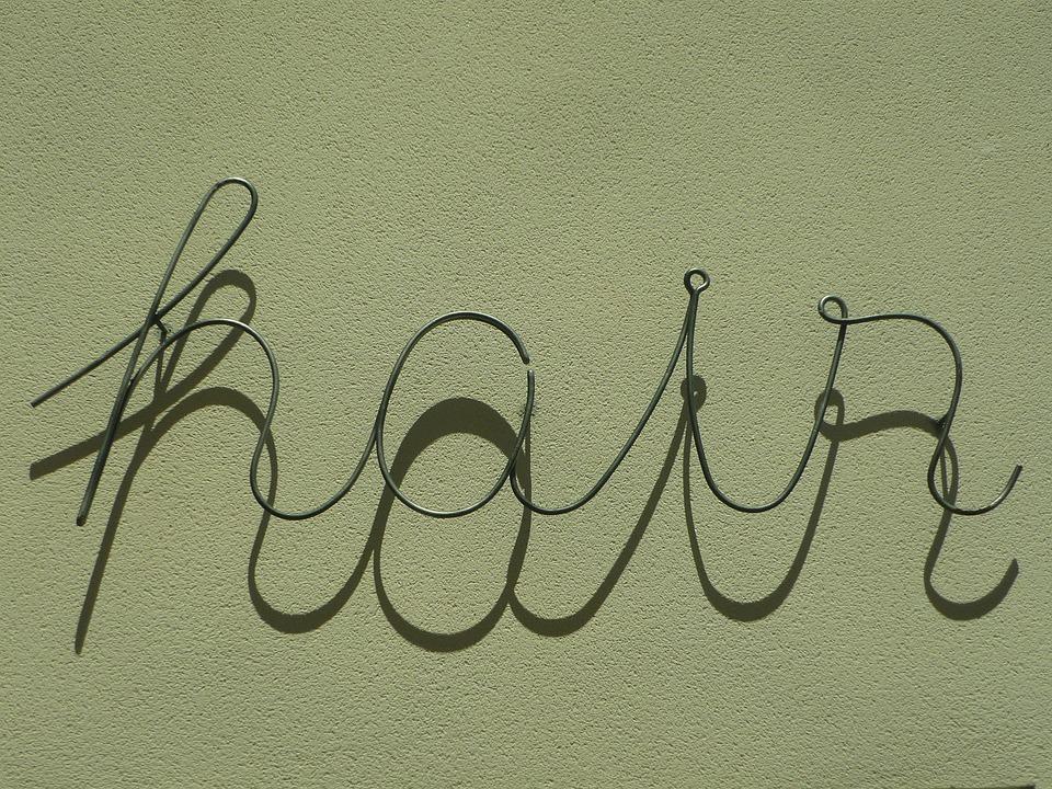 Hair, Lyrics, Metallic, Shadow, Lettering, Hairdressing