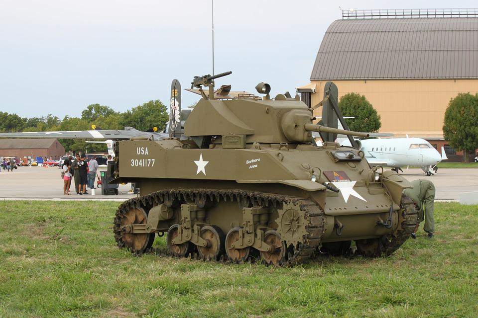 Tank, M3, Light, War, Military, American, Armored
