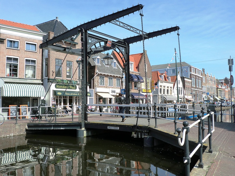 Bridge, Drawbridge, Old, City ​​view, Maassluis