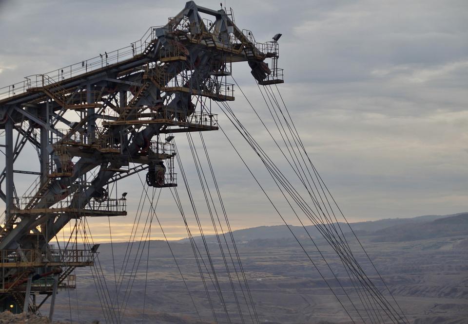 Mining, Machine, Excavator, Bucket, Extraction, Coal