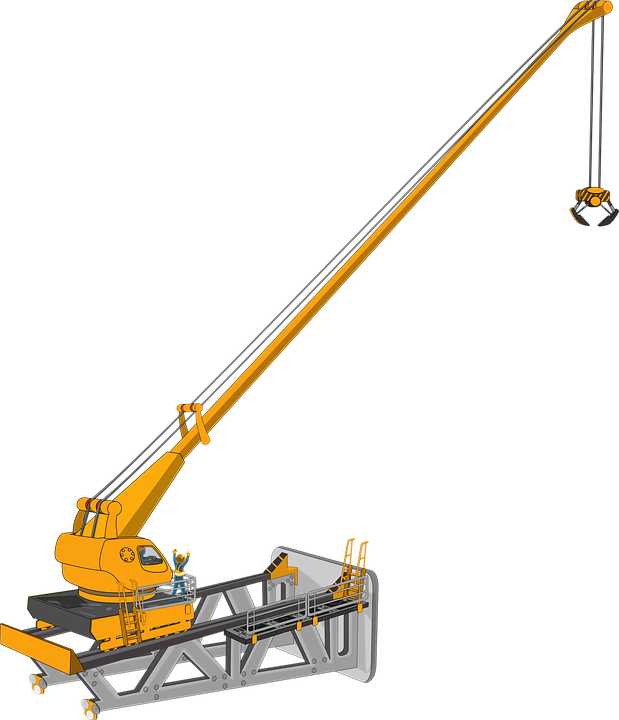 Crane, Machine, Heavy Equipment, Building Construction