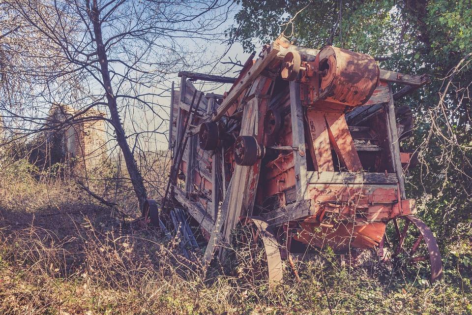 Threshing, Wheat, Hay, Agriculture, Machine, Field