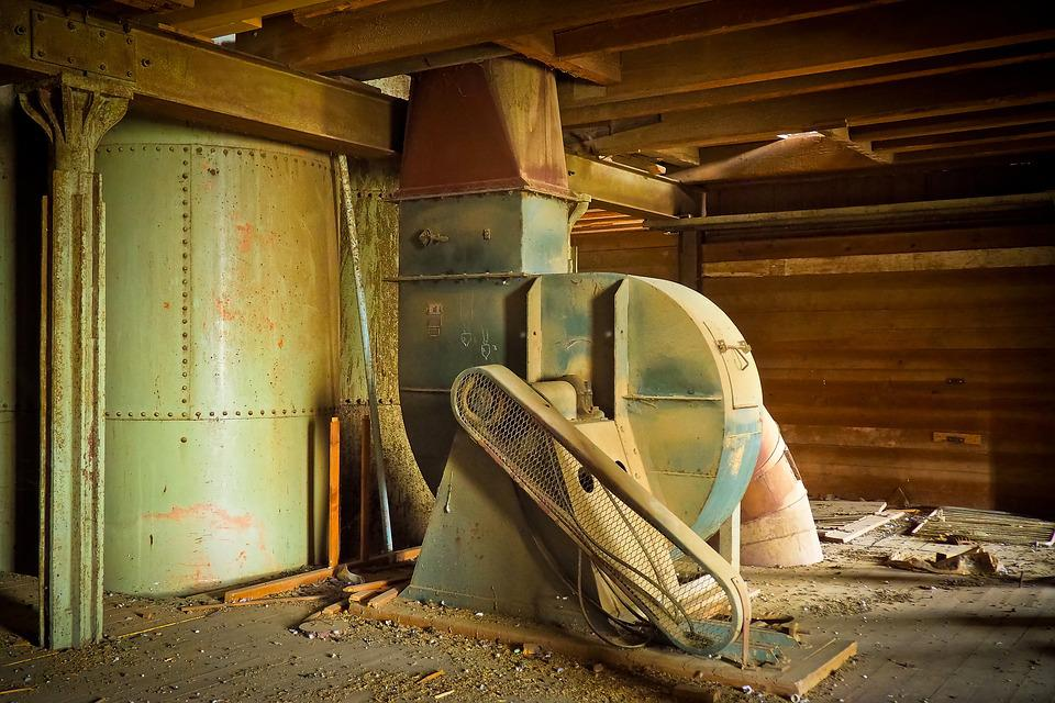 Lost Places, Warehouse, Stock, Leave, Machine