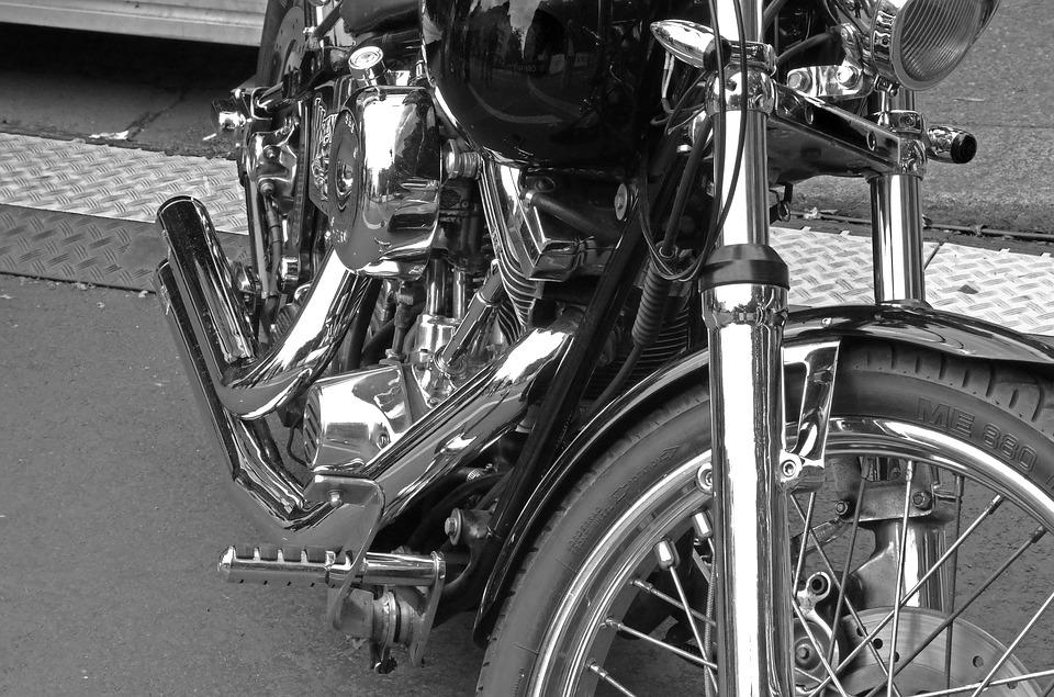 Harley Davidson, Motorcycle, Chrome, Motor, Machine