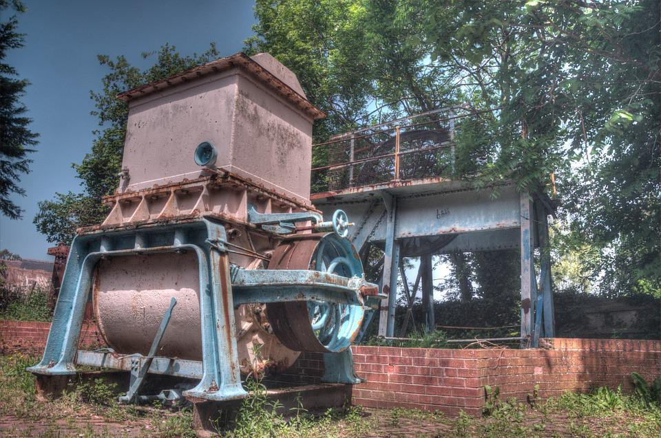 Holywell, Cotton Mill, Machine, Rusty, Metal