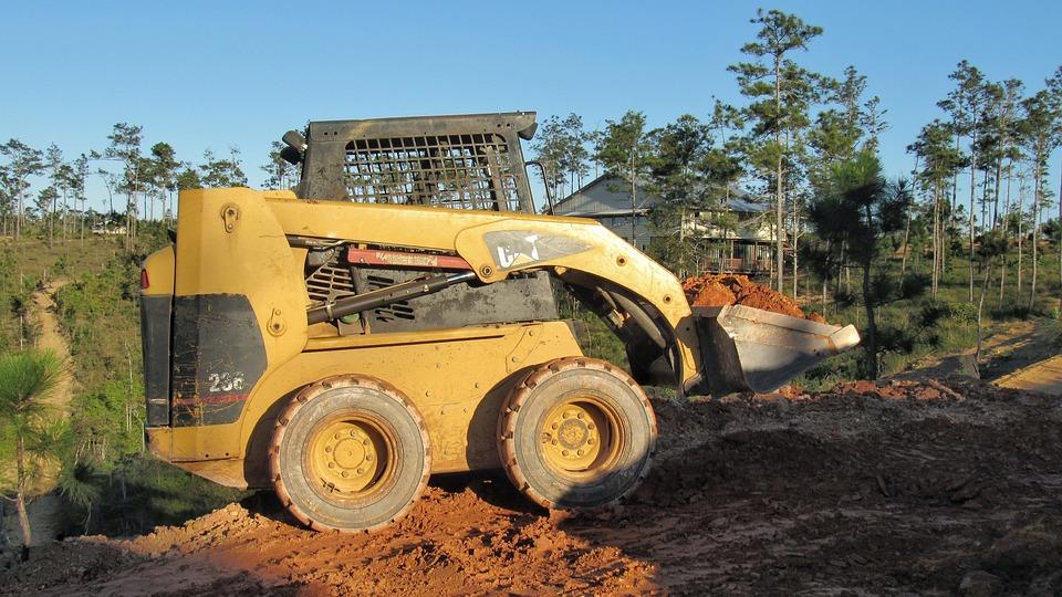 Machine, Soil, Tractor, Industry, Heavy, Skid Steer
