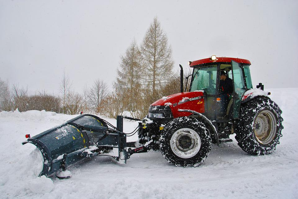 Tractor, Snow, Cleaning Snow, Winter, Machine, Road