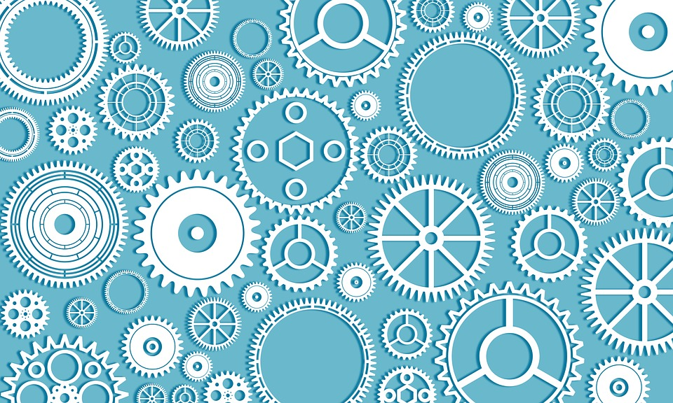 Gears, Cogs, Machinery, Machine, Wheel, Industrial