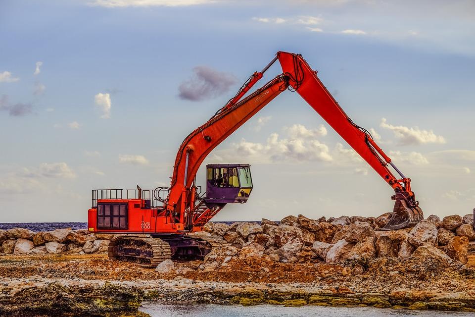 Heavy Machine, Excavator, Construction, Machinery