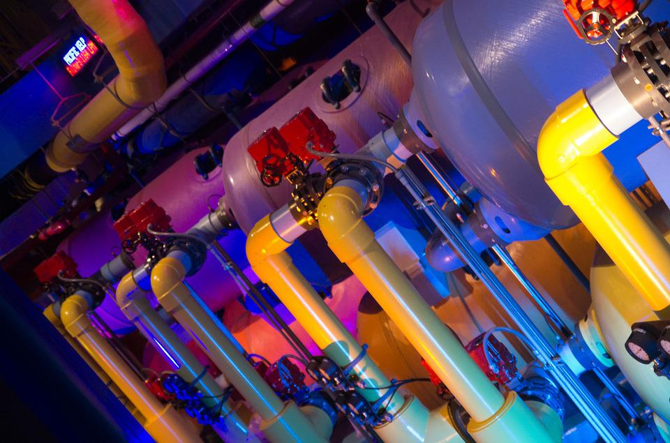 Pipes, Color, Machinery, Industrial, Metal, Industry