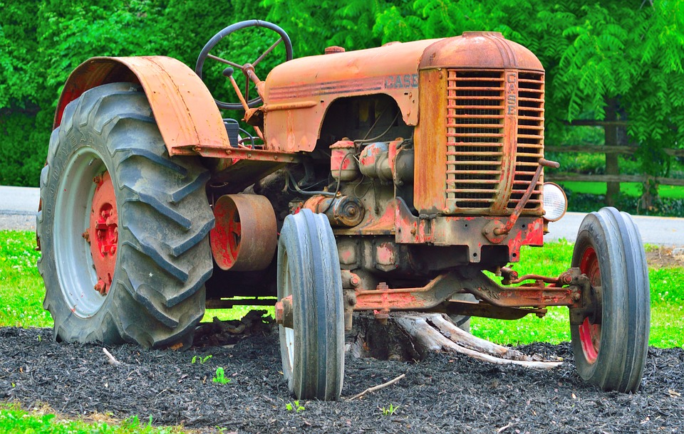 Antique Tractor, Farm, Machinery, Old, Rust