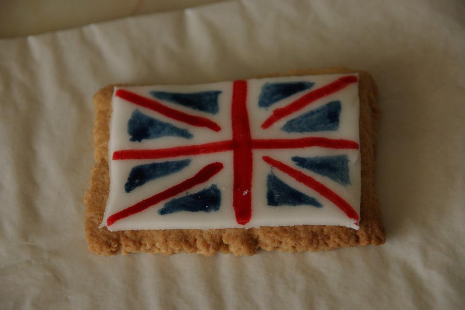 British Flag, Union Jack, Biscuit, Cookie, Macro, Red