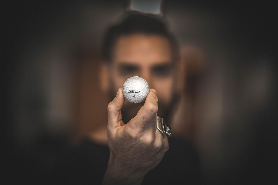 Golf Ball, Hand, Macro, Man