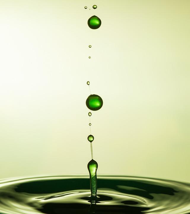 Drop, Crown, Water, Macro Impact, Experiment, Green
