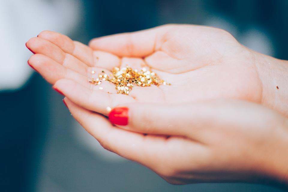 Glitters, Hands, Macro, Shiny