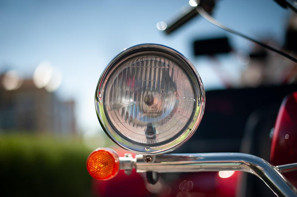 Motorcycle, Light, Turn Signal, Blinker, Closeup, Macro